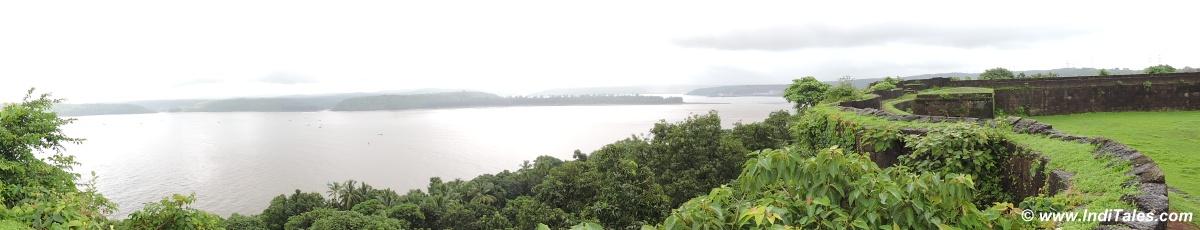 Panorama of Ganpatipule
