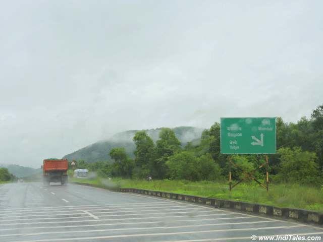Hazy monsoon roads of Konkan Coast