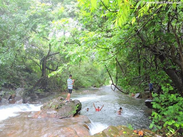 Savdav waterfall becoming a river