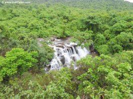 Top view of Savdav Waterfalls