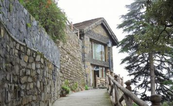 Charming old stone houses at Landour, Mussoorie