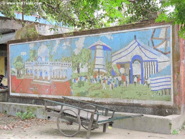 Wall Mural on the City walls - Cooch Behar