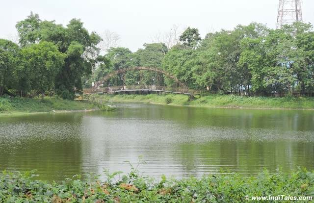 Lake with a bridge near Cooch Behar Palace