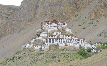 Closer view of Key Monastery, Spiti Valley, Himachal