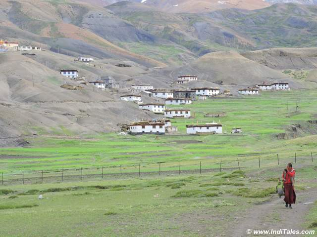 Langza village near Kaza in Spiti Valley