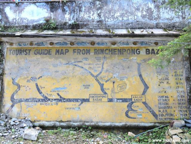 Tourist Map at Rinchenpong