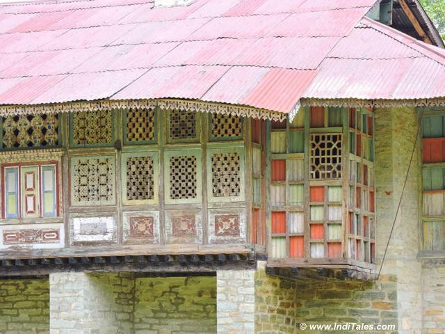 Colorful windows designs of the traditional house