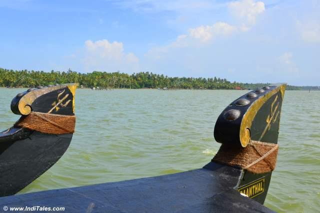 Floating in Ashtamudi Lake
