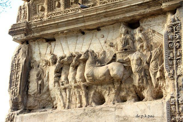 Relief sculpture on Arch of Titus - Forum Romanum