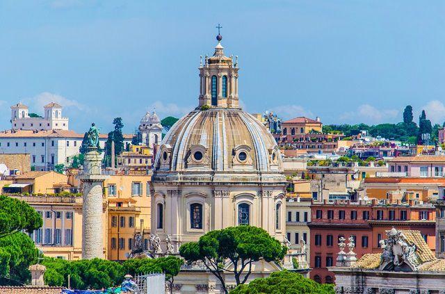 Surroundings of Forum Romanum in Rome