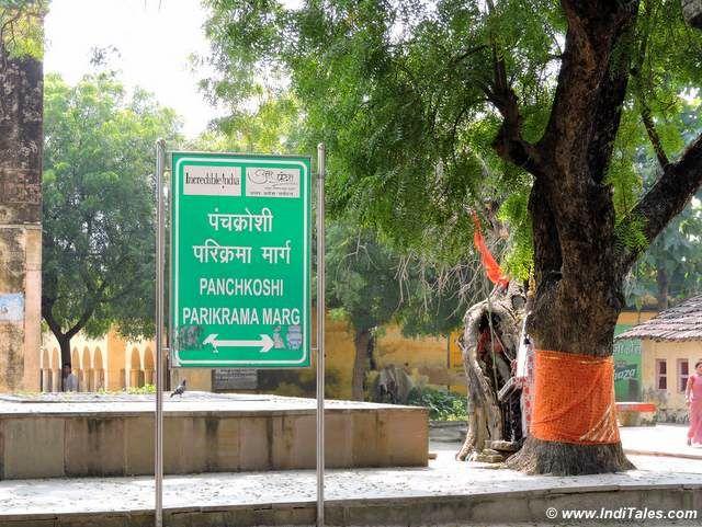Boards guiding the Panch Kroshi Parikrama Route