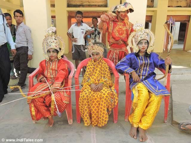 Young actors of Ramlila