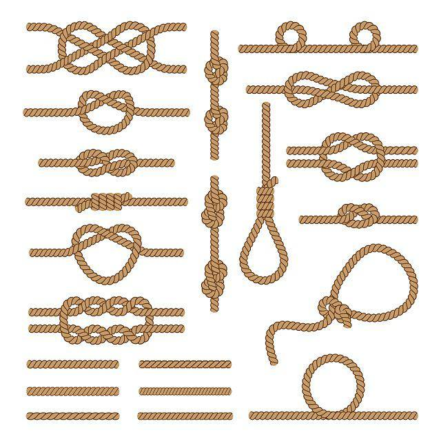Knots used by sailing boats & sailors