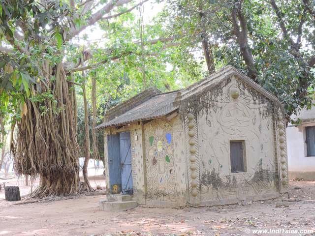 Lovely hut at Shanti Niketan
