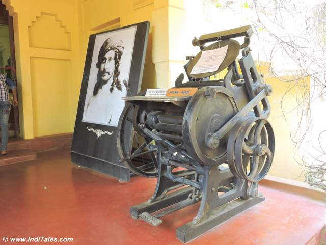 Portrait & Printing Machine at Shanti Niketan