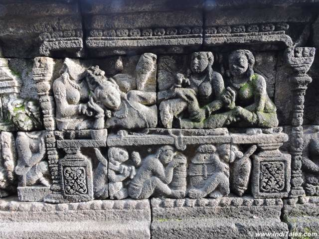 Carved panels of Borobudur