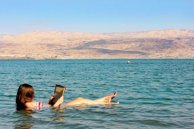 Reading on Dead Sea