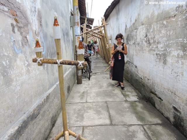 Narrow decorated streets of Kota Gede, jogja