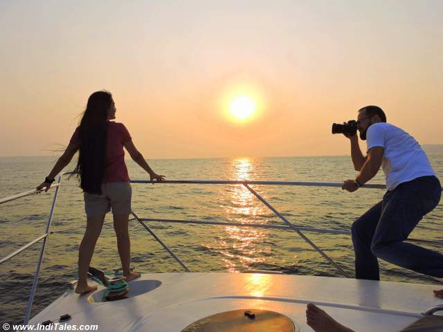 Photo Shoot on a Goa Yacht