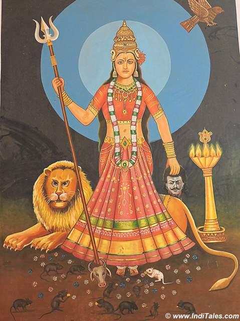 Karni Mata as Durga
