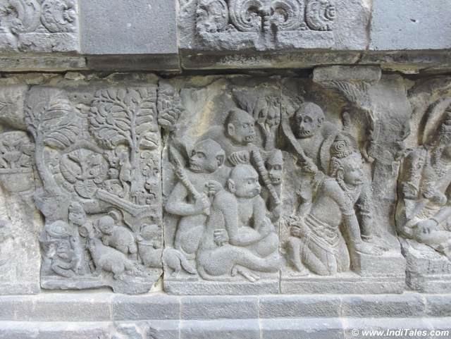 Vanar Sena or the army of monkeys - Ramayana Panel - Prambanan