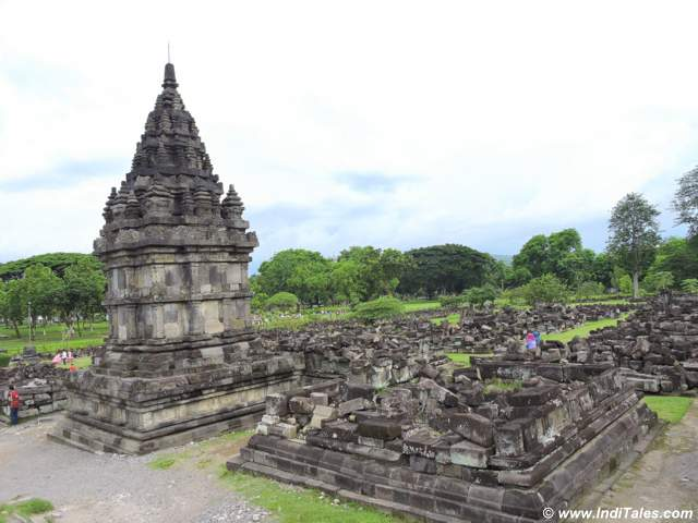 Ruins of temples at Prambanan Temple Compounds