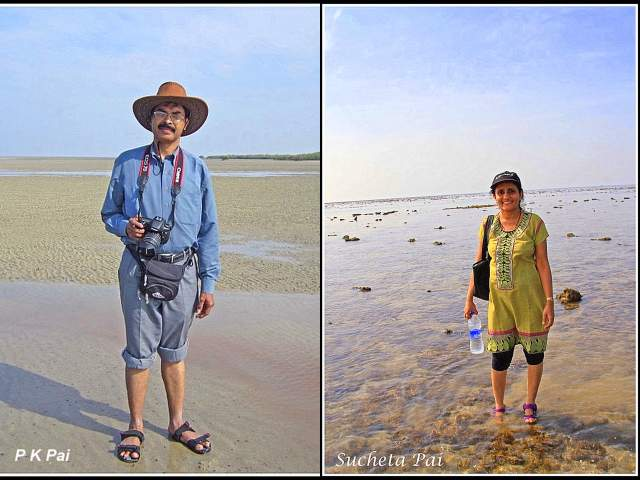 Dr. P.K.Pai & Sucheta Pai exploring Marine National Park at Narara