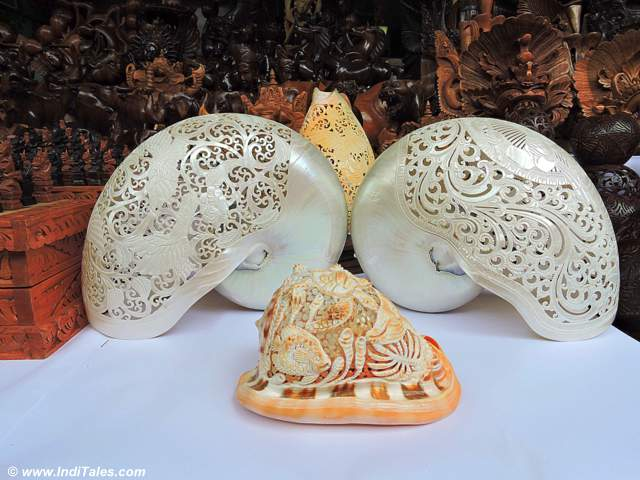 Bali Souvenirs - Finely Carved shells