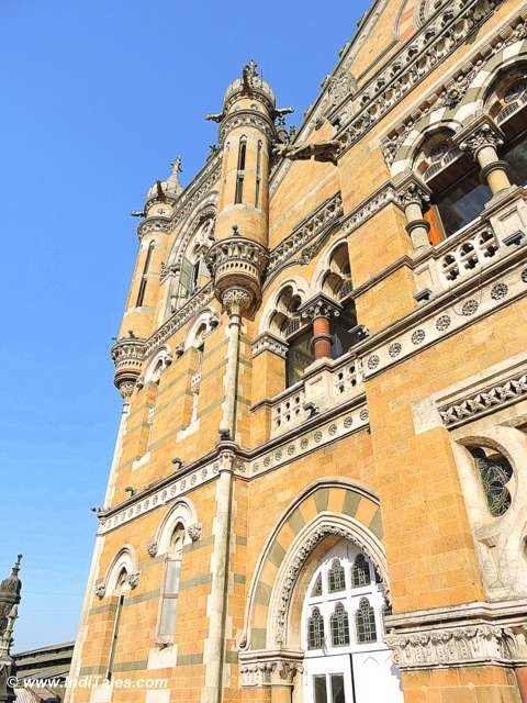 Sewage Pipes on CST Mumbai Facade