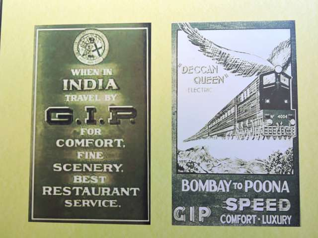 Advertisements for Deccan Queen - when it was launched between Bombay & Pune