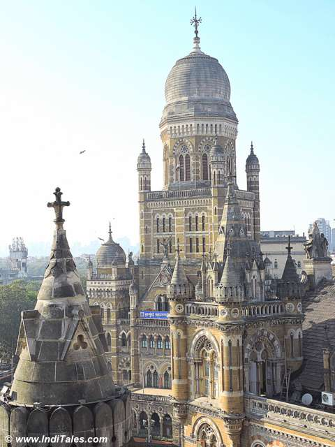 View from the CST Mumbai Dome