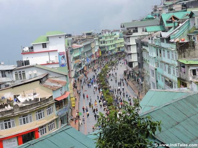 View of Gangtok MG Marg during the day