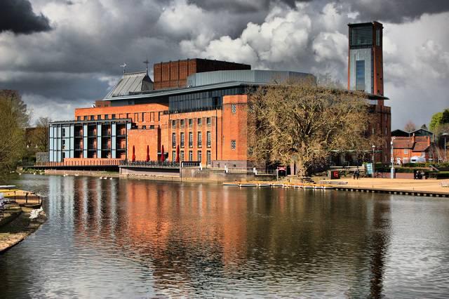 Royal Shakespeare Theater on banks of River Avon - Stratford upon Avon