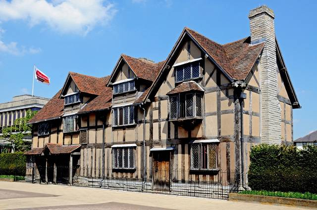 Shakespeare Birthplace at Henley Street , Stratford upon Avon