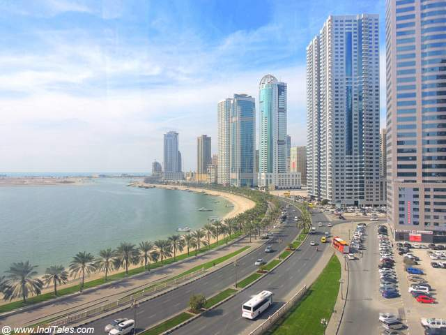 View of Sharjah from Eye of Emirates