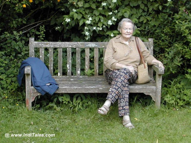 Old Lady on a Bench in South Wales