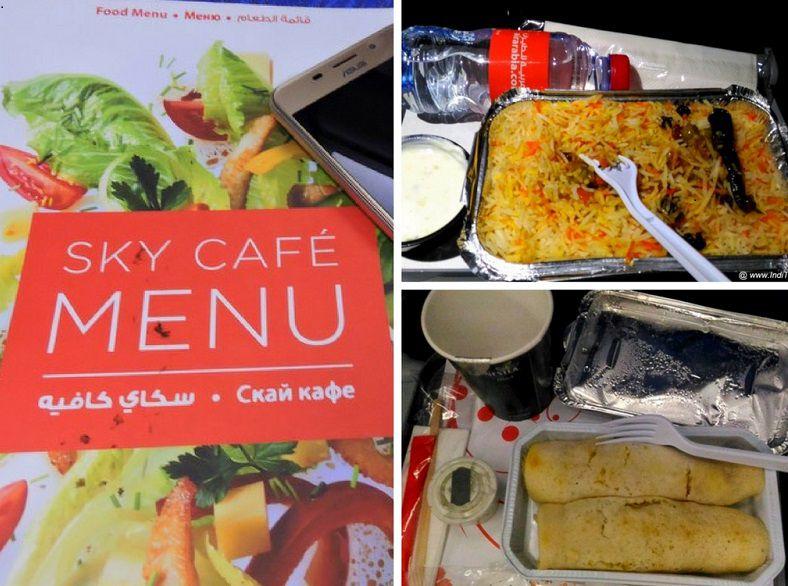 Vegetarian Food - In-flight Air Arabia