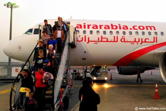Landing in Sharjah with Air Arabia
