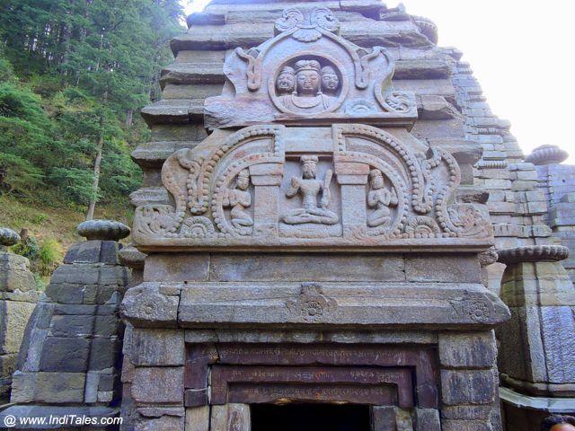 Carved facade inscriptions of Jageshwar Temple