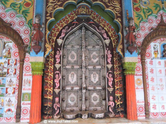 Temple door of Hanuman Garhi Temple, Ayodhya
