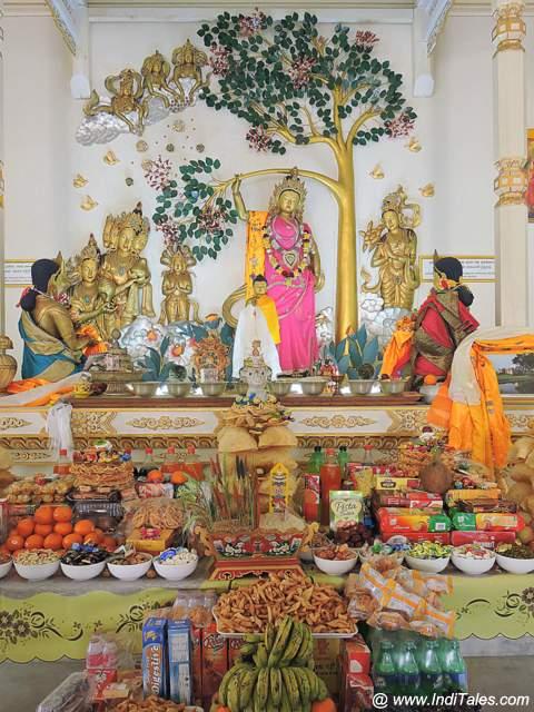 Scene depicting Maya Devi giving birth to Siddhartha Gautam