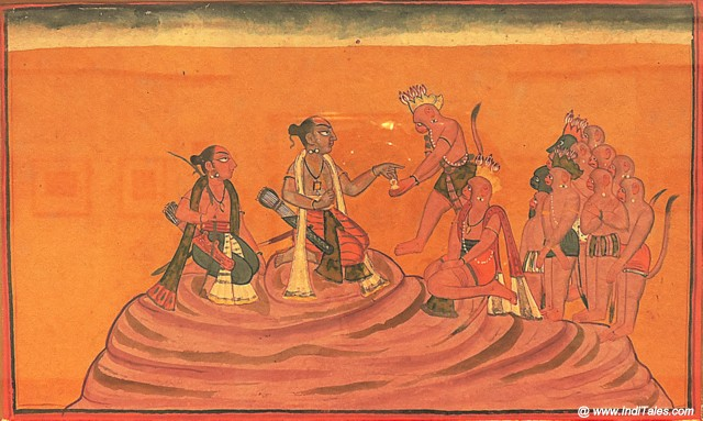 Ramayana scenes at Miniature Gallery of National Museum