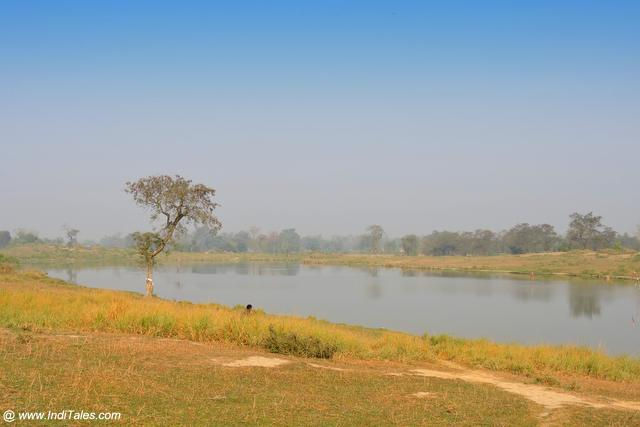 Sagarhawa Lake - where thousand stupas existed once - Kapilavastu, Nepal