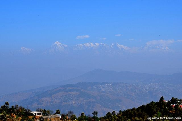 Landscape view of Himalayas at Mukteshwar