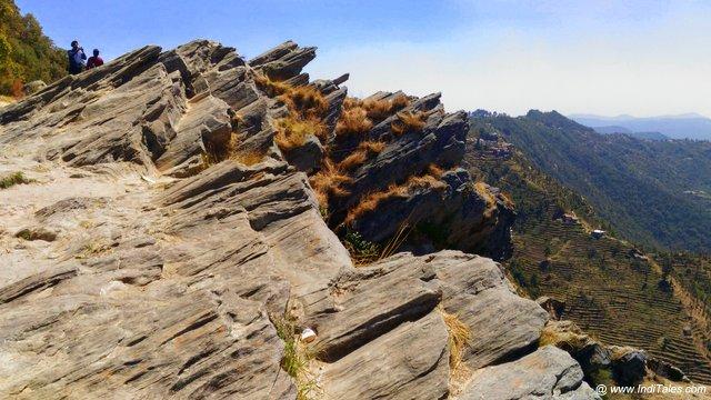 Rock formations at Mukteshwar Dham