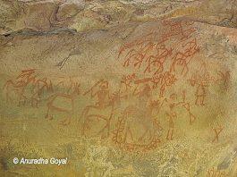 भीमबेटका के प्राचीन शैलचित्र
