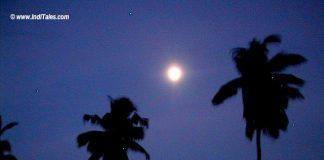 Full Moon at the beach, Kozhikode