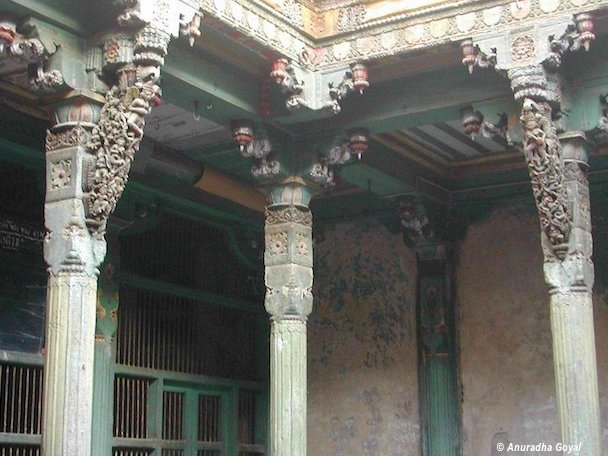 Carved wooden Brackets in Old City Ahmedabad