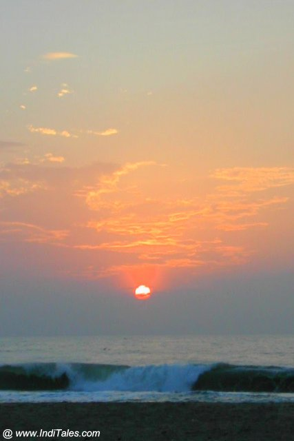 Sunrise at Puducherry or Pondicherry