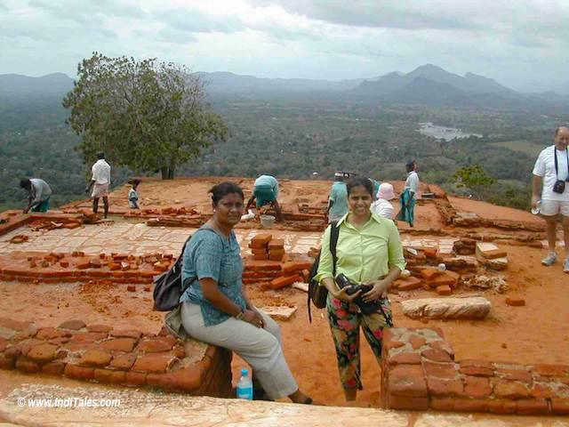 Climbing Sigiriya in Sri Lanka